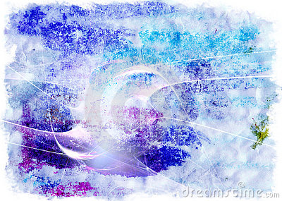 Blue-violet watercolor background
