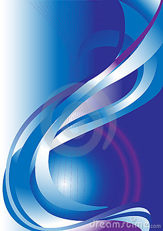 Blue and violet wave on blue background.Banner.Bac