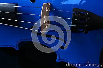 Blue Violin Strings