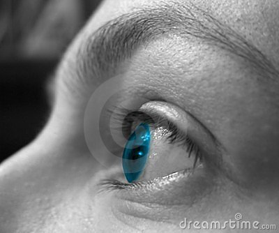 Blue vision 2 Stock Photo