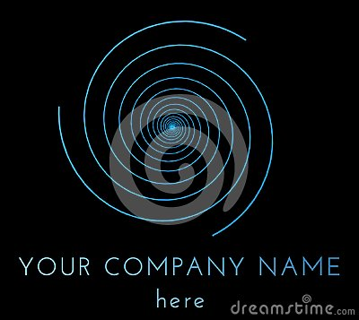 Free Blue Vortex Logo Template Isolated Over Black Background Royalty Free Stock Photography - 100322457
