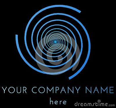 Free Blue Vortex Logo Template  Over Black Background Royalty Free Stock Photos - 100322818