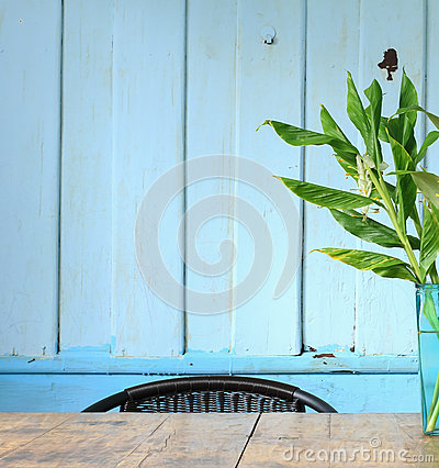 Free Blue Wall Decorate  Stock Image - 43041911