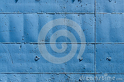 Blue Wall with Rectangles