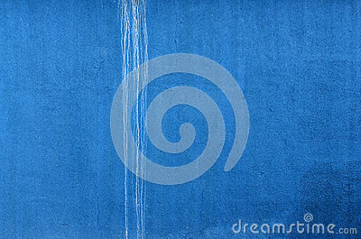 Blue Wall with white trickle. Horizontal