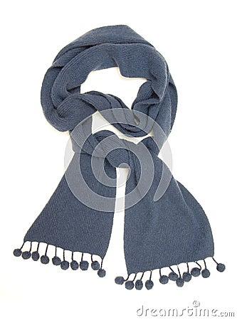 Blue warm scarf.