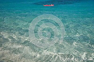 Blue warm tropical water. U.S. Virgin Islands.
