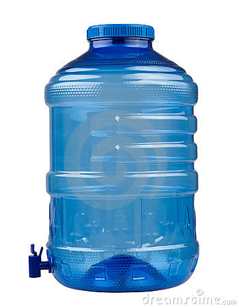 Blue water container