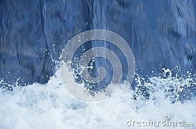 Blue water falling