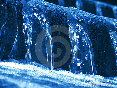 Blue Water Feature