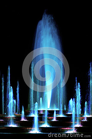 Free Blue Water Fountain Stock Photos - 27457563