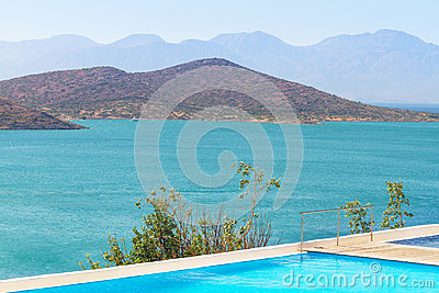 Blue water of Mirabello Bay