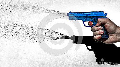Blue Water Pistol Stock Photo