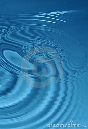 Blue water ripple abstract background effect