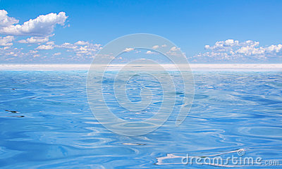 Blue water and sky
