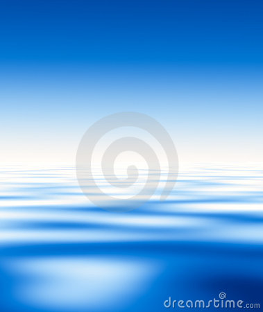 Blue water and sky....
