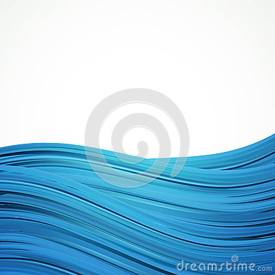 Blue water stripes background