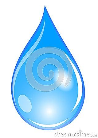 Free Blue Waterdrop Royalty Free Stock Images - 11272749