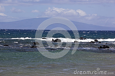 Blue waters off the coast of Maui