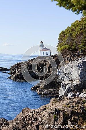 Blue waters of San Juan island, Washington