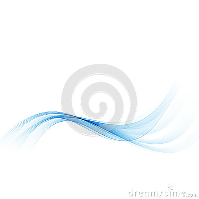 Free Blue Wave.Abstract White Background With Blue Wavy Curved Lines. Stock Image - 97582831