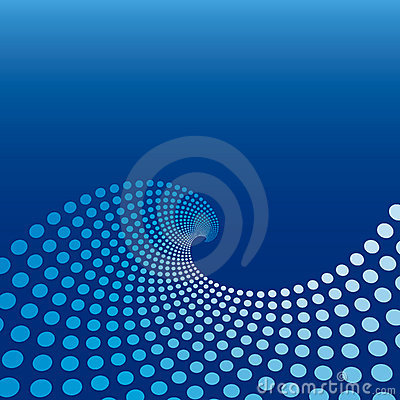 Free Blue Wave Circle Background Royalty Free Stock Photo - 3350845