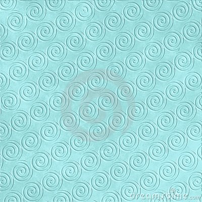 Blue Wave Embossed Pattern