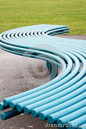 Blue wave seat