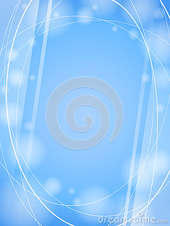 Blue waves light design template frame background