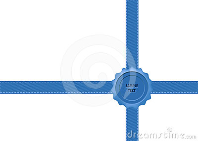 Blue Wax Seal with Bow