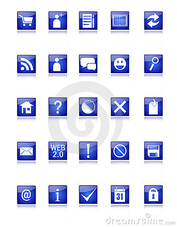 Blue Web and Blog Icons