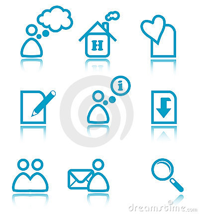 Free Blue Web Icons Stock Photography - 2004762