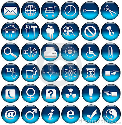 Blue Web Icons/Buttons