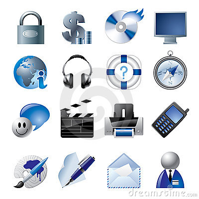 Free Blue Website And Internet Icons 1 Royalty Free Stock Photo - 4402715