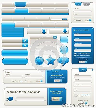 Free Blue Website Design Elements Royalty Free Stock Photo - 15008195