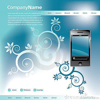 Free Blue Website Template Royalty Free Stock Photography - 8682547