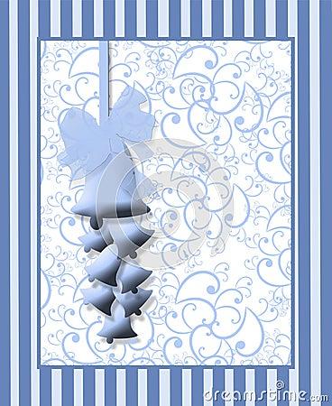 Free Blue Wedding Bells Print Royalty Free Stock Photos - 8457858