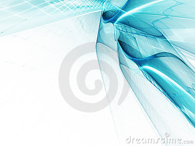 Blue on white abstract background