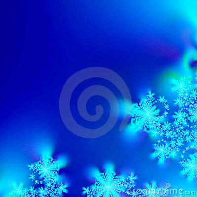 Blue and White abstract Snowflake Background template