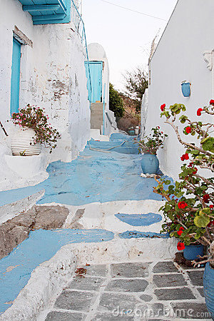 Blue and White Alley