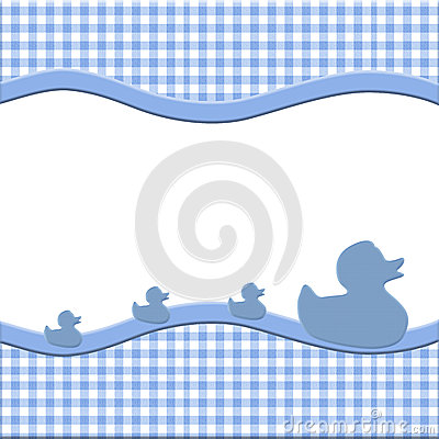Blue and White Baby Frame