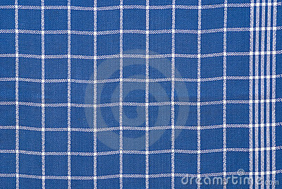 Blue and white checkered cloth