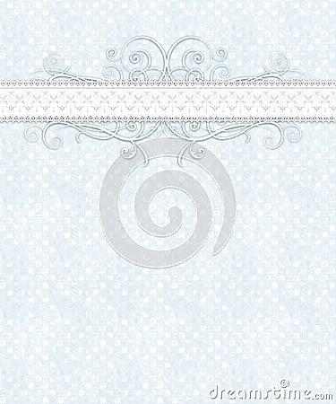 Blue White Checkered Pattern, Lace, Flourish