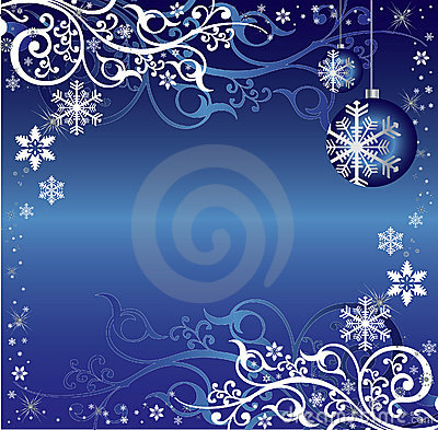 Blue and White Christmas Themed Background Pattern