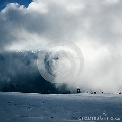 Blue And White Clouds And White Snow Free Public Domain Cc0 Image
