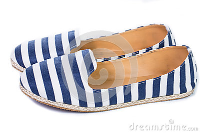 Blue and white color sandal shoes