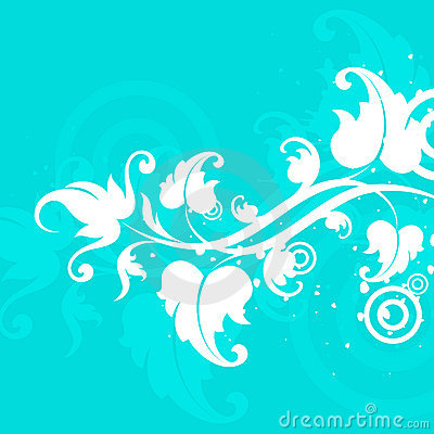Blue and white floral motif