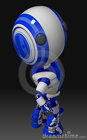 Blue and White Robot