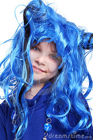 The blue wig