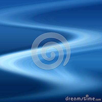 Blue winding path